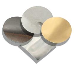 "Aluminum 99.999% Sputter Target 3"" Dia. X 0.250"" Thick"