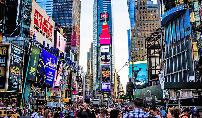 LED displays in Times Square