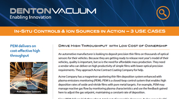 In-Situ Controls and Ion Sources in Action - Use Case