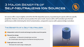3 Major Benefits of Self-Neutralizing Ion Sources infographic