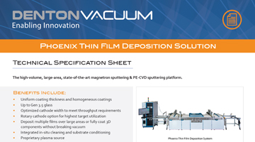 Phoenix Thin Film Deposition Solution Data Sheet thumbnail